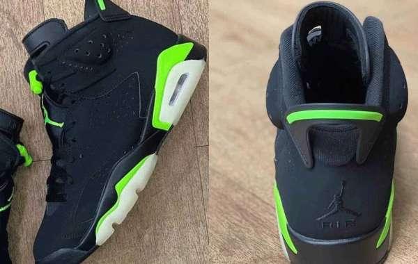"Latest 2021 Air Jordan 6 ""Electric Green"" CT8529-003 Basketball Shoes"